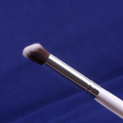 White Cosmetic Soft Synthetic Small Blending Concealer Foundation Brush 03 Round-Angled by Banggood