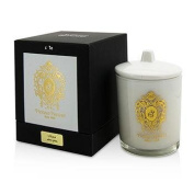 Tiziana Terenzi Glass Candle with Gold Decoration & Wooden Wick - Lillipur (White Glass) 170g180ml