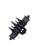 Restyle Black Crown Gothic Crescent Moon Spikes Barrette Hair Clip Black Black