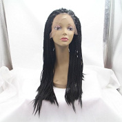 Sexyqueenhair Synthenic Fibre Lace Front Braided Wigs Synthenic Kinky Twist Wigs 70cm
