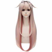 Kantai Collection Women Pink Gradient Straight Hair Long Cosplay Anime Wigs