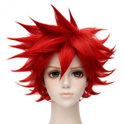Aizen Kunitoshi Red Short Haircut Anime Cosplay Party Unisex Fashion Wigs