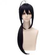 Anime Cosplay Long Purple Black Mixed Ponytail Fashion Costume Full Hair Wigs