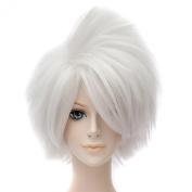 Naruto Hatake Kakashi Anime White Short Hair Wigs Cosplay Full Straight Wig