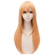 Orange Yellow Cosplay Anime Women Straight Long Heat Full Hair Party Long Wigs