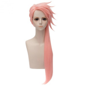 Sexy Pink Long Cosplay Wigs Women Straight Anime Party Full Hair Unisex Wig