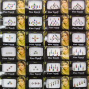 Banithani 24 Pcs Lot Different Assorted Multi colour Bindi Women Forehead Bindis Stickers