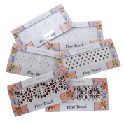 Banithani Lot Of 6 Assorted Multicolour Designer Indian Bindis Designer Temporary Tattoos