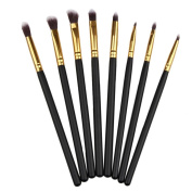 Tonsee® 8pcs Basic Eye Brushes Set Blend Eye Shadow Angled Eyeliner Smoked Makeup Brush