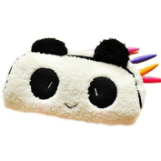 SAMGU Cute Panda Soft Plush Pencil Pen Case Bag Cosmetic Makeup Bag Pouch Coin Purse Colour white