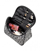 SAMGU Fashion Zebra Travel Wash Storage Toiletry Pouch Cosmetic Case Makeup Bag Colour black