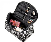 icase4u New Fashion Portable Waterproof Women Makeup Bag Make Up Storage Organiser Case Travel Pouch Zebra