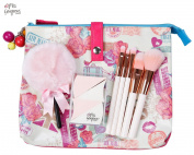 Miss Gorgeous Lovely Travel Bag with Powder Puff Makeup Brush Perfect Sponge pack of 4