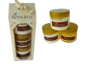 Royal Jelly 3 Pack Gift Set - Body Cream,Body Scrub, Hand & Nail Cream - Ideal Gift Set by TJM