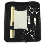 LuckyFine Salon Hair Cutting Hairdressing Thinning Barber Scissors SHEARS Comb Set CASE