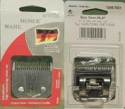 Moser Max 45 + Class 45 Stainless Steel Detachable Blade 3 mm Fits Moser Animal Clipper Models 1245, 1225, 1221, 1247 and 1252