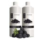 2000ml (2 x 1000ml) Suntana Blackberry After Dark 14% DHA Spray Tan Solution
