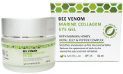 Bee Venom Marine Collagen Eye Gel 50 ml - Natural & Organic anti-ageing moisturiser and wrinkle filler with Manuka Honey, Royal Jelly, Peptides, Jojoba Oil and Hyaluronic Acid - enriched with Licorice, Gotu Kola, and fruit extracts, it reduces the appe ..