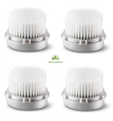 Replacement Brush Head for LUXE Skin Cleaning. For Fragile, Delicate or Dry Skin. Works on Face and Body. Compatible with Clarisonic MIA, MIA 2, ARIA, PRO, PLUS Cleansing Systems.