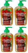 (4 PACK) - Faith in Nature - Pomegranate & Rooibos Handwash | 300ml | 4 PACK BUNDLE