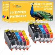 10 x Ink Cartridges Compatible with Canon MP500/MP510/MP520/MP520X 8SERIE
