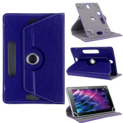 Nauci Premium Synthetic Leather Case For Medion Lifetab p10356 Stand Tough Blue Combined with Convenient Stand Function and Design Protective Case Cover
