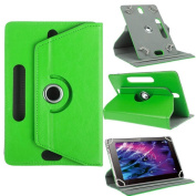 Nauci Case For Medion Lifetab p10356 Stand Robust Made of High-Quality Artificial Leather Combined with Convenient Stand Function and Design Protective Case Cover in GREEN