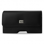 Reiko Leather Horizontal Carrying Pouch for with Card Holder for for Samsung Galaxy S5 - Retail Packaging - Black