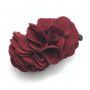 Meilliwish Flowers Rose Hair Clip Ponytail Holder(H41)