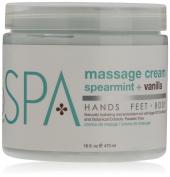 Bio Creative Lab Spa Massage Cream, Spearmint plus Vanilla, 470ml