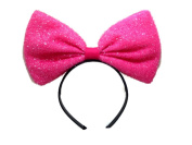 Black and Red Centre Bow Headband