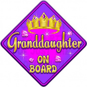 TORQ GRANDDAUGHTER Baby on Board Car Window Sign