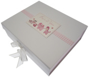 White Cotton Cards Baby's First Years Large Keepsake Box