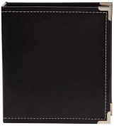 Simple Stories Leather Snap Binder 15cm x 20cm , Black