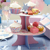 Tiny Feet Decorative 2 Tier Cake Stand