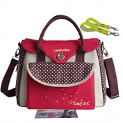 Landuo Women's Baby Nappy Nappy Bag Tote Red