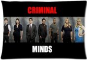 Cartrol Cotton & Polyester Custom Pillowcase- American police procedural television programme Criminal Minds season 9 Zippered Pillow case Covers Standard Size 50cm x 80cm