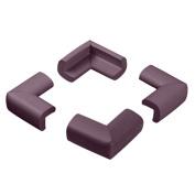 Masingo 4 Pcs Table Desk Edge Guard Soft Foam Protector Edge Corner Bumpers Brown