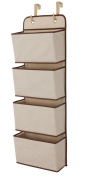 Delta Children 4 Pocket Hanging Wall Organiser, Beige