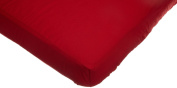 American Baby Company Percale Crib Sheet, Red
