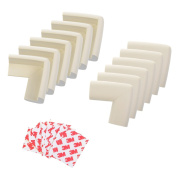 Cosmos ® 12 PCS Beige Desk Cover/table Corner Edge Protectors/cushions for Baby Safety with Cosmos Fastening Strap