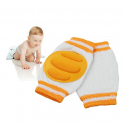 Breathable Unisex Infant Toddler Baby Kneepads Knee Pad Crawling Safety Protector Toddler Crawling knee Orange