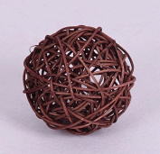 CheckMineOut 50Pcs Wood Twig Rattan Wicker Ball Wedding Decorations Home Garden Hanging Decor 5cm