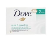 Dove Soap Pure and Sensitive 6 x 100g bars