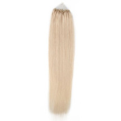 Beauty7 100 strands Loop Micro Ring Remy Human Hair Extension loop hair extension Fashion Hair Colours Platinum Blonde(#60),Straight Hair Style 100g Weight 1g/strand