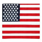 Cool USA Stars America Flag Ladies Hair Band Head Band Headwrap Bandana Scarf