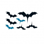 Set of 5 . Design Bat Pattern Body Tattoo Stickers Waterproof Fake Tattoos