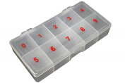 Effect Beauty 500 Numbered Soft Plastic Nail Tip Empty Storage Box