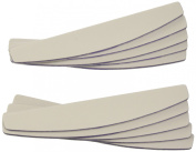 Star Naildesign & Cosmetics Profi Crescent File, White - 10 Piece