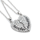 Trendyline® 1Set/2pcsSplit Love Heart Mother Daughter Necklace